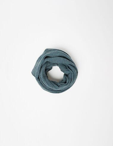 Green open weave scarf - Scarves - Nícoli