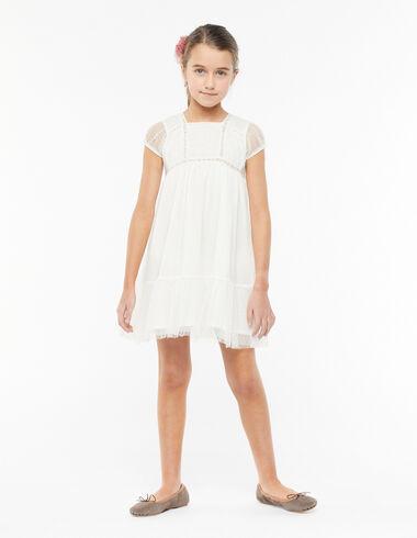 Ecru pin-tuck lace ring bearer dress - Primera Comunión-OCULTA - Nícoli