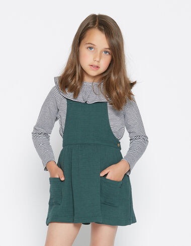 Girl's green pinafore dress - View all > - Nícoli