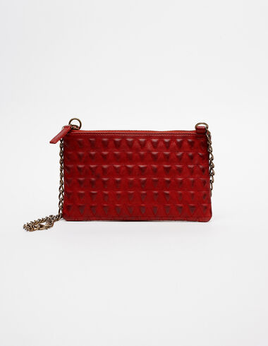 Red leaher bag with triangle details - View all > - Nícoli