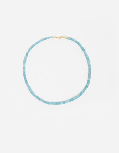 Turquoise vinyl beads necklace - View all > - Nícoli