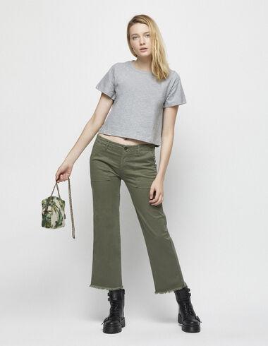 Pantalón bolsillos recto verde - Pantalones largos - Nícoli