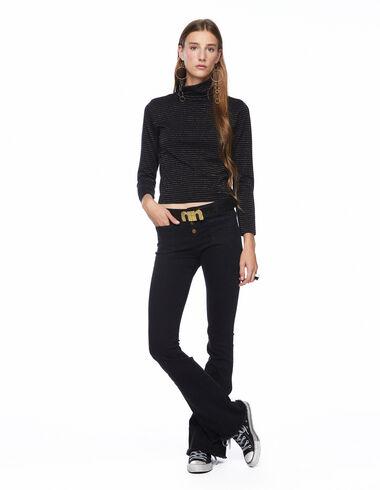 Total black flared trousers - Denim - Nícoli