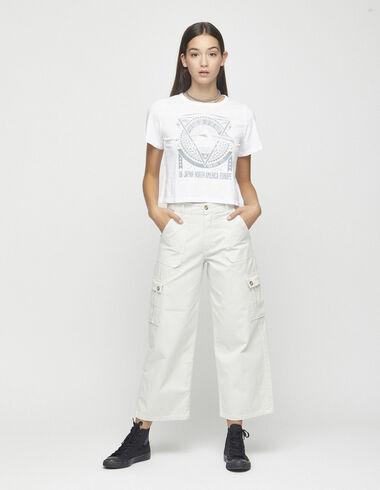 Pantalon cargo écru - Pantalons - Nícoli