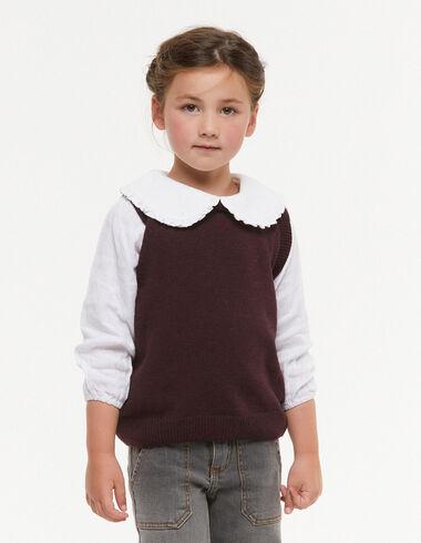 Maroon round-neck vest - Waistcoats - Nícoli