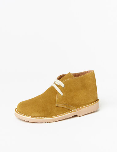 Boy's brown lace-up boots - Shoes - Nícoli