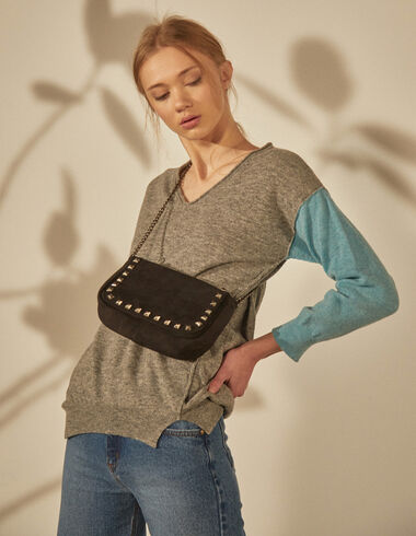 Women's  blue sleeve grey sweater - View all > - Nícoli