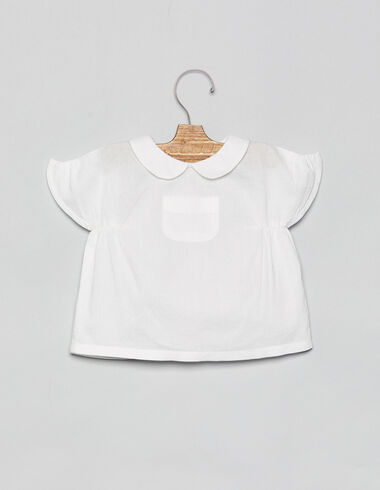 Chemise ceintrée blanche à poche bébé - Voir tout > - Nícoli