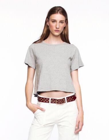 T-shirt manches courtes gris - Voir tout > - Nícoli