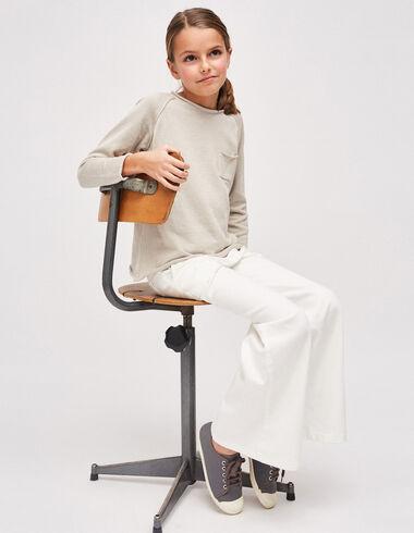Girl's mist sweater with pocket - Girl - Nícoli