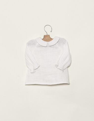 Off-white v-neck blouse - Shirts - Nícoli