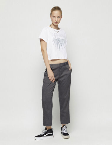 Grey straight leg herringbone trousers - New in - Nícoli