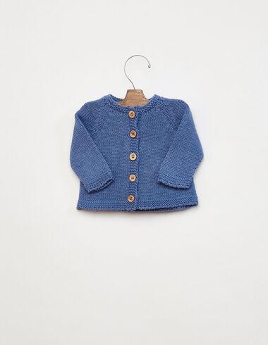 Veste boutons bois bleue - Voir tout > - Nícoli