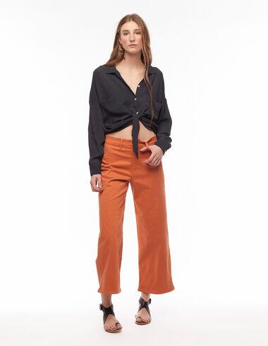 Orange wide-leg shorts - New Colour - Nícoli