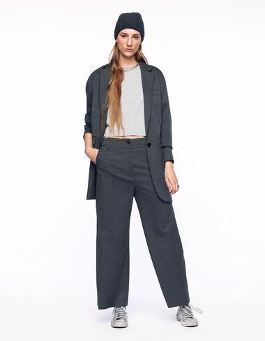 Pantalón ancho cuadros azul y marrón - Ver todo > - Nícoli
