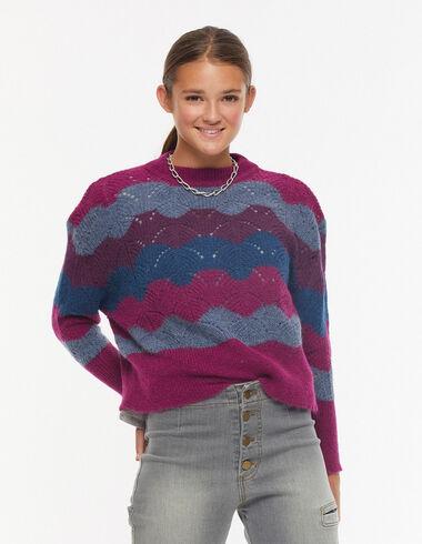 Pull ondes violet - Pulls et Sweatshirts - Nícoli