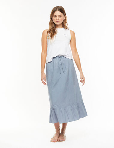 Long blue skirt - View all > - Nícoli