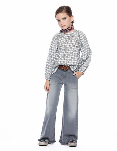 Pantalon wide leg poches gris - The Vests they Need - Nícoli