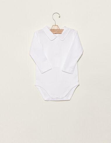 White baby bodysuit - Basics - Nícoli
