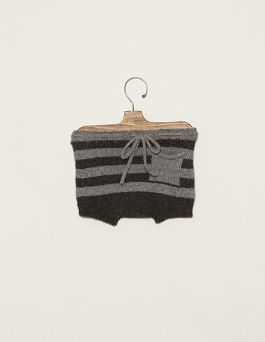 Grey striped bloomers with pocket - View all > - Nícoli