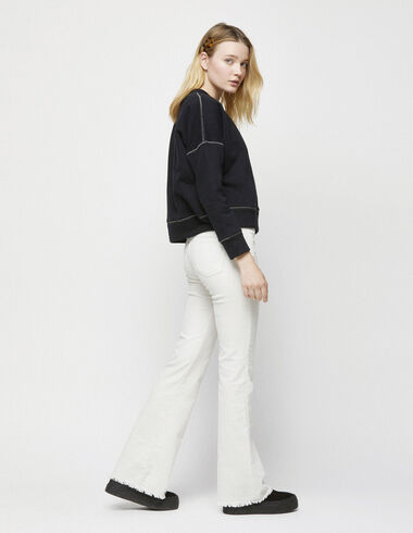 Off-white corduroy flared trousers - Clothing - Nícoli