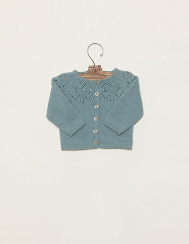 Light blue jacket with fretwork - View all > - Nícoli