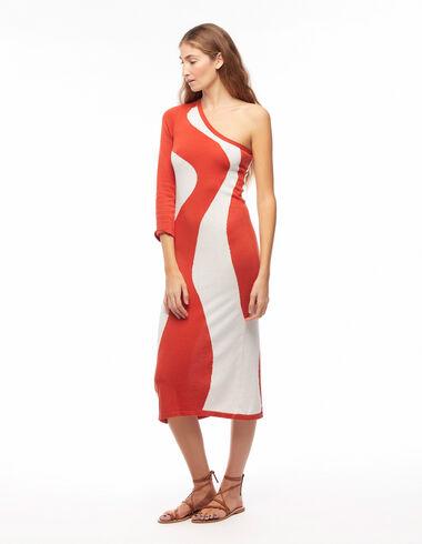 Robe vagues orange - Robes - Nícoli