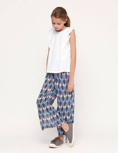 Blue drops trousers with slits - View all > - Nícoli