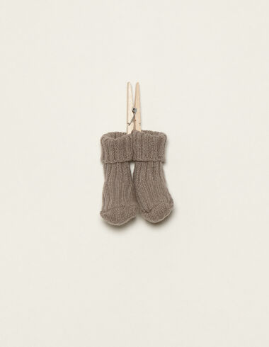 Taupe socks - View all > - Nícoli