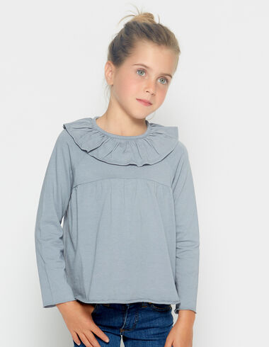 Girl's lavander ruffle blouse - View all > - Nícoli