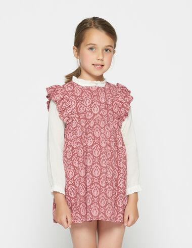 Girl's strawberry paisley pocket dress - View all > - Nícoli
