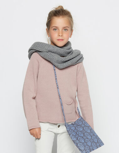 Girl´s pink round neck sweater - Pullovers - Nícoli