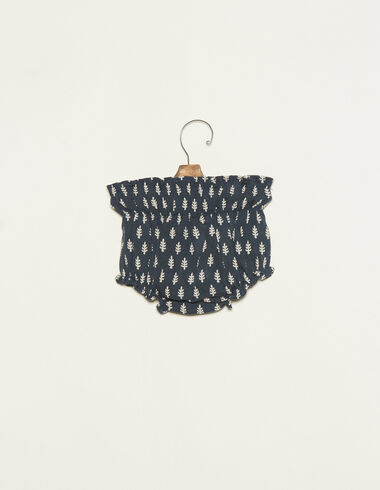 Blue bloomer with white twigs details - View all > - Nícoli