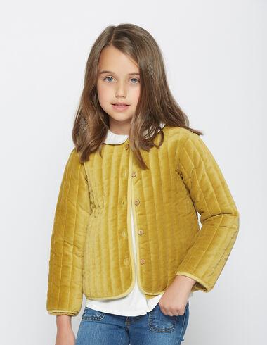 Gilet en velours moutarde pour petites filles - Voit tout > - Nícoli