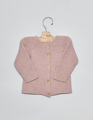 Pink baby cardigan - View all > - Nícoli