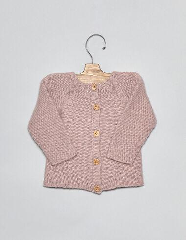 Chaqueta bebé punto rosa - Ver todo > - Nícoli