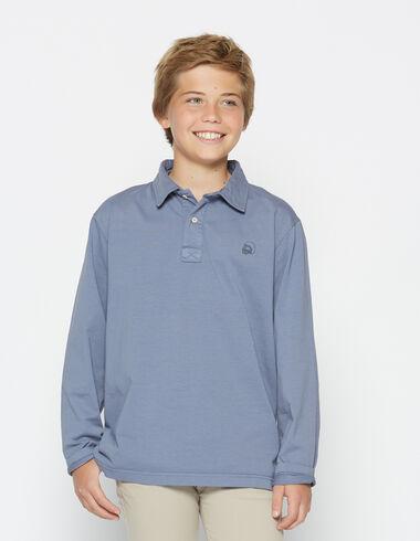 Boy's dark lavender long-sleeved polo shirt - View all > - Nícoli
