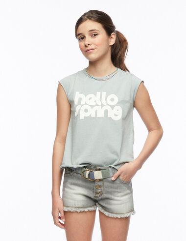 Green hello spring t-shirt - View all > - Nícoli