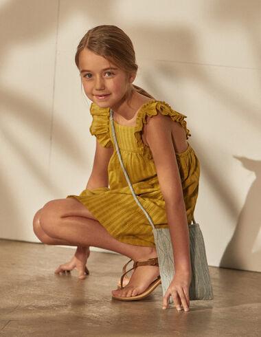 Vestido niña rayas mostaza - Niña - Nícoli