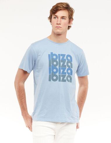Camiseta ibiza azul - Camisetas Solidarias - Nícoli