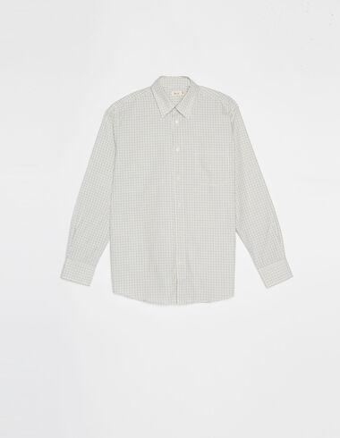 Brown check v-neck shirt - View all > - Nícoli