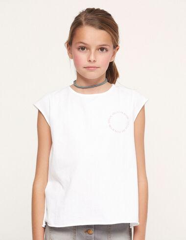 Camiseta solidaria 'tropical' blanca - Traspasos (se oculta) - Nícoli